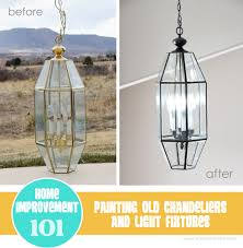 home improvement how to spray paint old brass light fixtures chandeliers