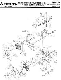 Delta machinery service parts band saw