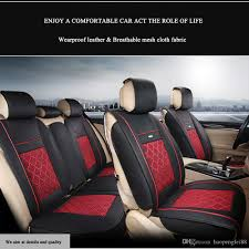 universal car interior seat covers waterproof pu leather front rear cushion mess fabric seat cover 5 seats