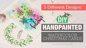 Creative Christmas Cards Diy Hand Painted Watercolor Christmas Cards 5 Different Designs