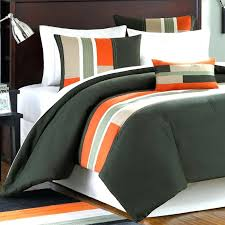 orange and grey bedding sets gray and orange comforter set home design ideas blue rugby within orange and grey bedding sets