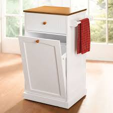 Kitchen, Wooden Trash Cans For Kitchen Wooden Kitchen Trash Can Holder  White Lacquered Hidden Trash