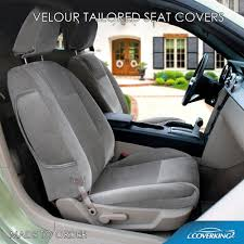 coverking velour custom tailored front seat covers for chevy trailblazer