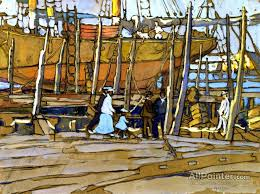 jane peterson paintings for the dry dock