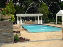 formal inground swimming pool design ideas and installation with deck jets and pergola franklin lakes nj
