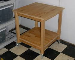 Rolling Kitchen Island Table Norden Tables Turn Into Rolling Kitchen Island Ikea Hackers