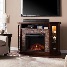 a console electric fireplace in espresso 238 04 48m kit the home depot