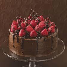 chocolate birthday cake with strawberries. To Chocolate Birthday Cake With Strawberries