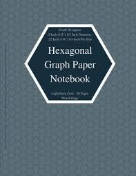Hexagonal Graph Paper Notebook Small Hexagons Light Grey Grid 5 Inch 1 2