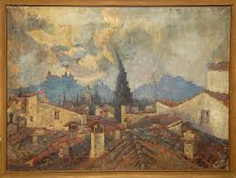 clients uncle painted many european city images the picture showed signs of a harsh life but was successfully rescued