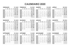 Calendario 2020 Annuale Calendariosu