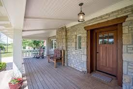 craftsman style front doorsCraftsman Front Door with exterior stone floors  Glass panel door