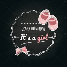 <b>It's a girl</b> label Graphic Vector - Stock by Pixlr