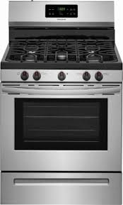 gas range. Frigidaire - Self-Cleaning Freestanding Gas Range Stainless Steel Front_Zoom 6