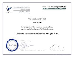 Certifications In Telecommunications Voip Networking Ip And