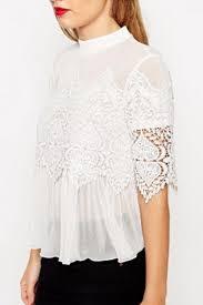 Designer Womens White Blouse White Lace Blouse Designer Rldm