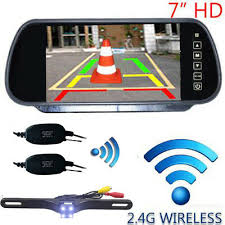 "WIRELESS <b>CAR BUS TRUCK</b> REAR VIEW KIT <b>7</b>"" LCD MIRROR ..."