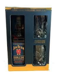 jim beam set beam double oak with two crystal tumblers gift set drinks chest jim beam