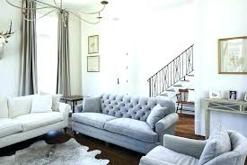Grey Tufted Sofa Velvet New Light Interior Gray Couch Settee32