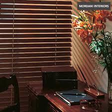 dark walnut wooden venetian blinds