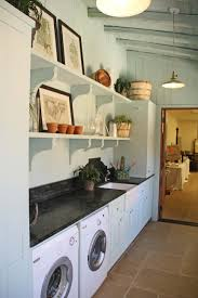 Building Laundry Room In Garage With Travertine Tiles Idea And White Washer  Machine ...