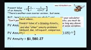 annuity calculation in 9 minutes annuities explained for present value of an annuity formula you