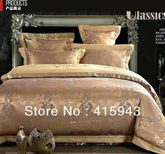 um image for gold bedding set red duvet cover queen king bedspreads luxury silk bedding set