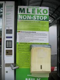 Fresh Milk Vending Machine Simple Fresh Milk Vending Machine In Central Ljubljana Market Photo
