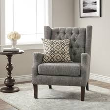 gracewood hollow maxwell grey tufted wingback chair