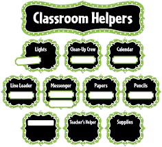 Collection Of Classroom Helper Chart Free Printables