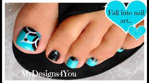 Turquoise Toe Nail Designs Baby Blue Floral Toenail Art Pedicure Tutorial