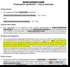 Casual Employment Contract - Contract For Casual Employee