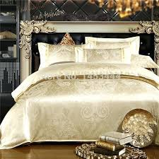 gold bedspread king luxury white silver gold silk satin bedspreads embroidered bed in a bag jacquard gold bedspread