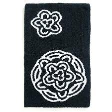 rug sets black and white bathroom mat se improbable