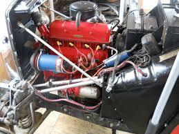 bruce bodemer s mg td tempus fugit garage mg td engine ds