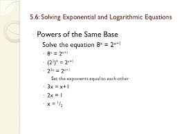 solving logarithmic equations with diffe bases math solving exponential and logarithmic equations mathematics major