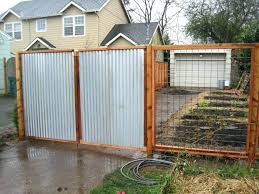 corrugated metal fence ideas wood framed corrugated metal fence plans panels home depot with well made