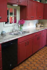 Reloved Rubbish: Primer Red Chalk Paint Kitchen Cabinets