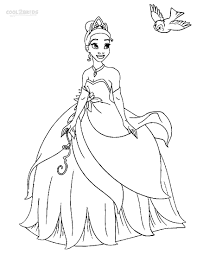 Small Picture Coloring Pages Princess Tiana Coloring Pages Tiana Princess And