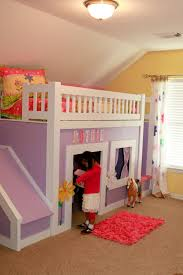 Build A Princess Bed Ana White Princess Bed With Stairs And Slide Diy Projects