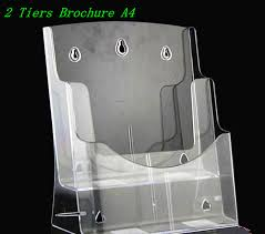 Acrylic Flyer Display Stand Clear A100 100 Tiers Plastic Acrylic Brochure Literature Pamphlet 72