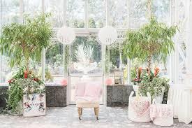 indoor garden party bridal shower