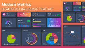 Modern Charts And Graphs Modern Metrics Powerpoint Dashboard Slidemodel