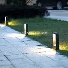 sidewalk lighting buy aluminum alloy outdoor led garden bollard path lights walkway exterior lawn lamps pathway4