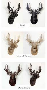 diy assembly 3d cardboard animal heads deer head decor oil painting singapore contemporary