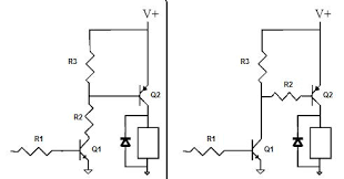 is one circuit better than the other to drive the pnp transistor enter image description here transistors pnp