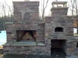 outdoor fireplace oven combo