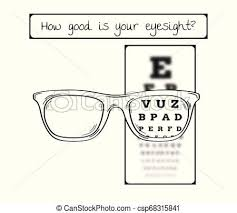 Eye Chart Letters Snellen Chart For Eye Test Sharp And Blurred