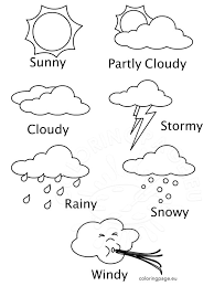 Small Picture Weather Coloring Sheets Printables Coloring Page