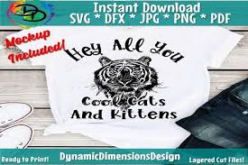 Get this svg plus over 1,800 more in my entire shop svg bundle. 1 Hey All You Cool Cats And Kittens Designs Graphics